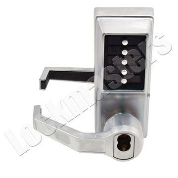 Picture of Kaba Simplex L1000 Series Mechanical Pushbutton; Left Hand Lever; Satin Chrome (26D) Finish