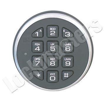 Picture of LaGard SafeGard Electronic Safe Lock Part - 3000 Keypad - Satin Chrome Finish