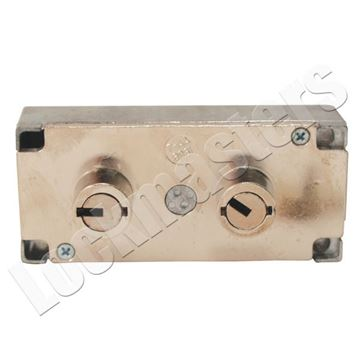 """Picture of LeFebure 7750 Series Double Little 1/2"""" Nose Safe Deposit Lock - Nickel Finish"""