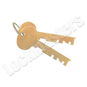 Picture of Bullseye/LeFebure 7737 Series Safe Deposit Lock - Pair of Cut Renter Keys