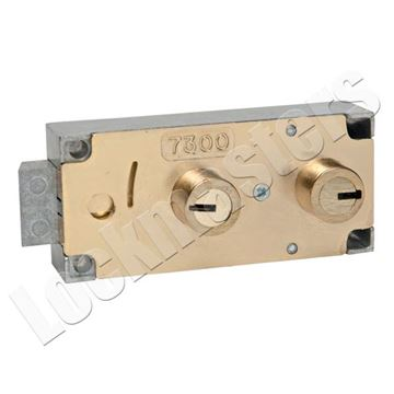 Picture of Bullseye/LeFebure 7300 Series Fixed Lever, Non-Handed, Double 1/2 Nose Safe Deposit Lock