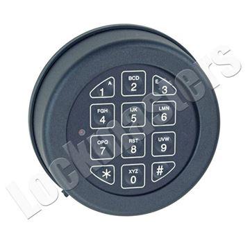Picture of Lp Locks Base Line Keypad, Rotating Keypad for DB-20 & DB-25 Straigh Bolt Lock Bodies - Black