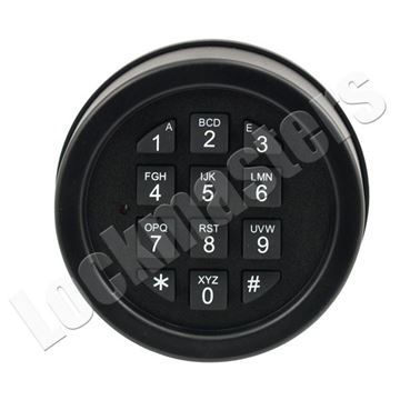 Picture of Lp Locks Base Line Plus Keypad for DB-20 & DB-25 Straight Bolt Lock Bodies - Textured Black Finish