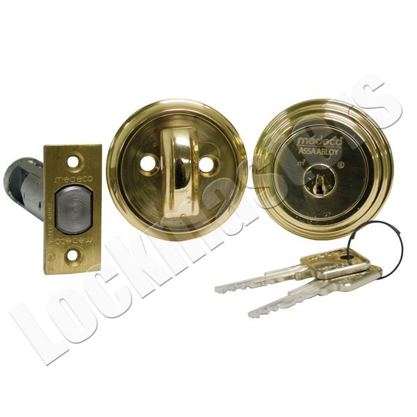 Lockmasters  Medeco Single DeadBolt DL Keyway 605