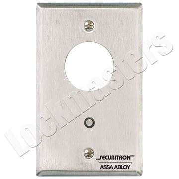 Picture of Securitron Mortise Keyswitch Momentary - Single Gang Less Mortise Cylinder
