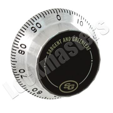 """Picture of S&G Front Reading Dial for 12"""" Door Thickness"""