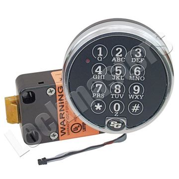 Picture of S&G 6120 Series Electronic Safe Spring Bolt Lock Package - Satin Chrome Finish