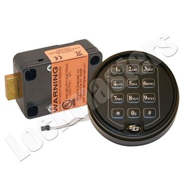Picture of S&G 6120 Series Electronic Safe Lock with Matte Black Keypad