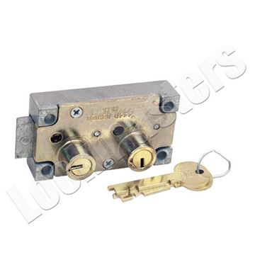 Picture of S&G 4231 Series Safe Deposit Right Hand Fixed Lever Lock - Brass Finish