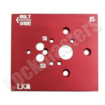 Picture of LaGard Swing Bolt and S&G Aluminum Drill Template