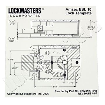 Picture of AMSEC ESL10 Magnetic Drill Template