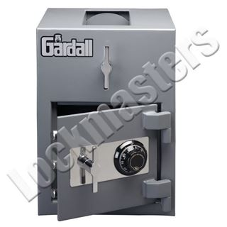"Picture of Gardall 11"" H x 13"" W x 11"" D Light Duty Under Counter Depository Safe with S&G Group II Mechanical Lock"