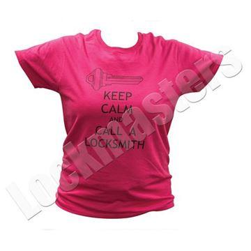 Ladies Keep Calm Call a Locksmith T-shirt image