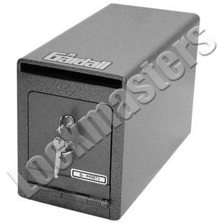 "Picture of Gardall 7 1/2"" H x 5 1/2"" W x 11"" D Under Counter Deposit Safe with Dual Key Lock"