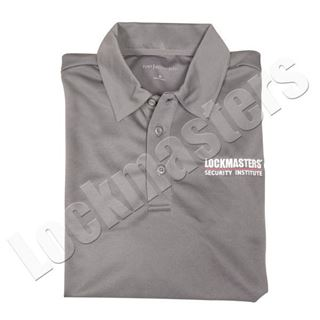 LSI Steel Gray Logo Performance Polo