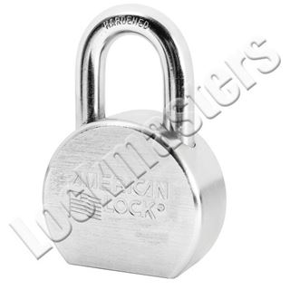 """Picture of American A700 Series Solid Steel Rekeyable Pin Tumbler Padlock 2-1/2' Body with 1-1/16"""" Shackle  Keyed Alike"""