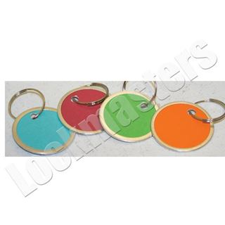 """Picture of 1-1/4"""" Color Paper Tags - Assorted Colors, Box of 25"""