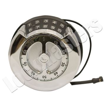 Picture of LP Lock Dual Premier Keypad with Mechanical Dial - Bright Chrome