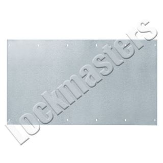 """Picture of Rockwood 10"""" x 10"""" Kick Plate; Stainless Steel"""