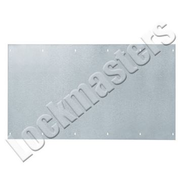 "Picture of Rockwood 10"" x 10"" Kick Plate; Stainless Steel"