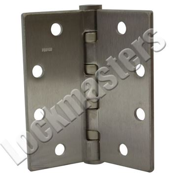 Picture of Stanley FBB Series Brass or Bronze Heavy Weight Ball Bearing Hinge with Non-Removable Pin - Satin Chrome