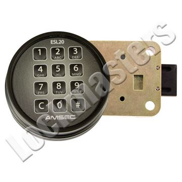 Picture of AMSEC 20XL Electronic Combination Safe Dead Bolt Lock - Black Keypad