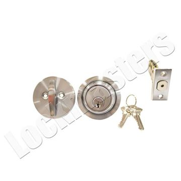 Picture of Cal-Royal Standard  Single Cylinder Deadbolt - Satin Chrome, SC1 Keyway