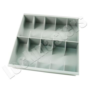 Picture of Bullseye 10 Compartment Cash Tray, Grey Plastic