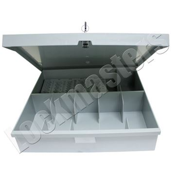 Picture of Bullseye 6 Compartment Cash Drawer Kit with Coin Scoops