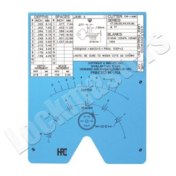 Picture of Blitz & Switch Blitz C28 Code Card Ilco & Lockwood, Small Pin