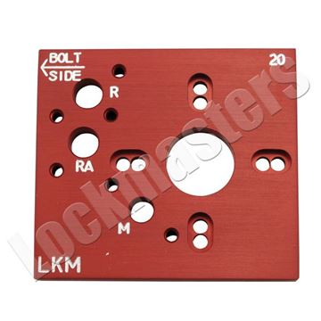 Picture of Kaba Mas X-08 & 09 Aluminum Drill Template