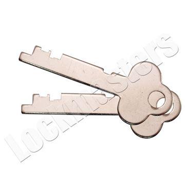 Picture of Guardian 6832 Safe Deposit Renter Key Blanks - 1 Pair