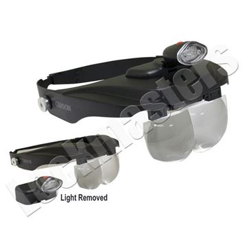 Picture of Head Visor Magnifier with Light - 4 Levels of Magnification