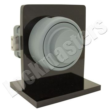 Picture of Kaba Mas X-10 Combination Lock Mounted on Kaba Display Stand