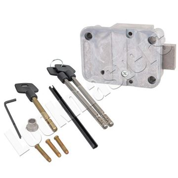 "Picture of LaGard 2200 Lock with a Pair of 5"" Keys"