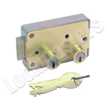 Picture of Yale 201 Right Hand Safe Deposit Lock - Brass