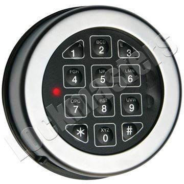 Picture of Lp Locks Base Line Keypad, Rotating Keypad for DB-20 & DB-25 Straigh Bolt Lock Bodies - Chrome