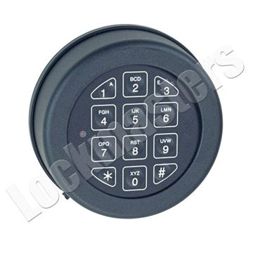 Picture of Lp Locks Base Line Keypad, Rotating Keypad for DB-20 & DB-25 Straigh Bolt Lock Bodies - Black