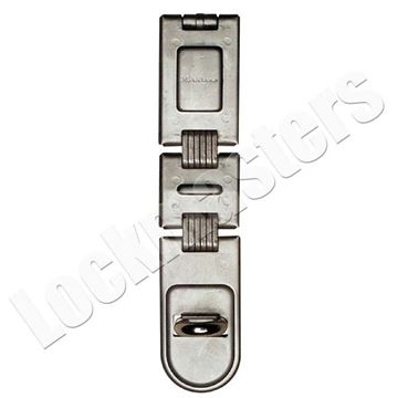"Picture of Master 7-3/4"" Long Double Hinged Hasp: Zinc Plated"