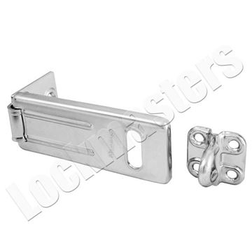 "Picture of Master 3-1/2"" Long Zinc Plated Hardened Steel Hasp"