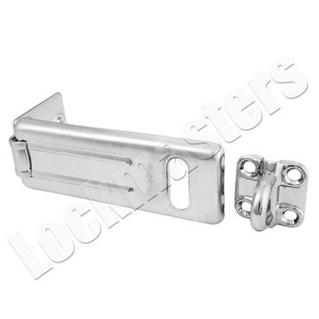 "Picture of Master 4-1/2"" Long Steel Hasp with Locking Eye"