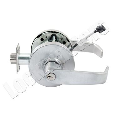 Picture of Sargent 10 Line Cylindrical Lever Lock Electromechanical Function: Satin Chrome