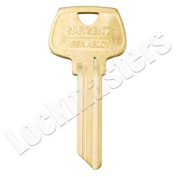 "Picture of Sargent 6 Pin Key Blank ""HA"" Keyway"