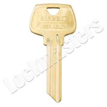 "Picture of Sargent 6 Pin Key Blank - ""LJ"" Keyway"