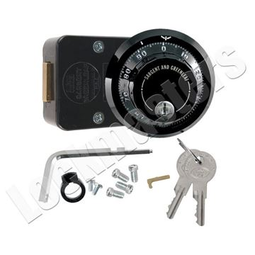 Picture of S&G Model 6730 Group 2, 3-Wheel Key Locking Dial & Lock Package