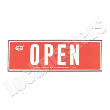 Picture of Open Closed Container Reversible Magnet