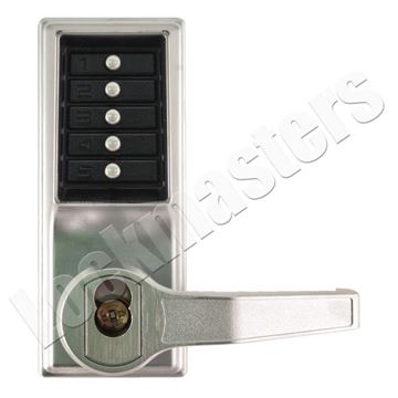 Picture of Simplex L1000 Mechanical Door Lock;  Lever & Key Override LFIC; Right Hand - 26D Satin Chrome
