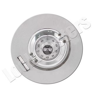 Picture of AMSEC/Star Electronic Safe Lock Part: C Rated Round Combination Style Complete Door