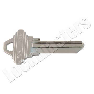 """GMS//Ilco Mortise Cylinder Chrome 1 1//8/"""" With Two Keys-Schlage C Keyway New"""