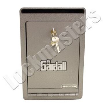 "Picture of Gardall 10 1/4"" H x 7 1/2"" W x 9"" D Under Counter Depository Safe with Dual Key Locking"